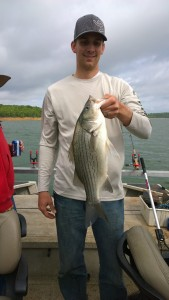 Fishing for Hybrid-Striper Skiatook Lake, Oklahoma