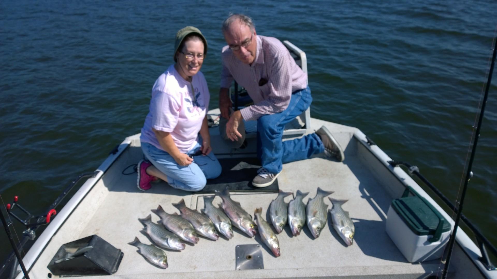 June 10th 2015 fishing skiatook lake for hybrid striper for Oklahoma lake fishing reports