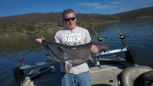 Spoonbill Paddlefish at Fort Gibson Lake in Oklahoma